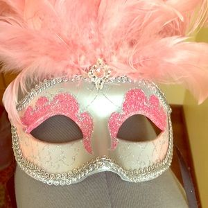 Other - Pink Feather Masquerade Mask